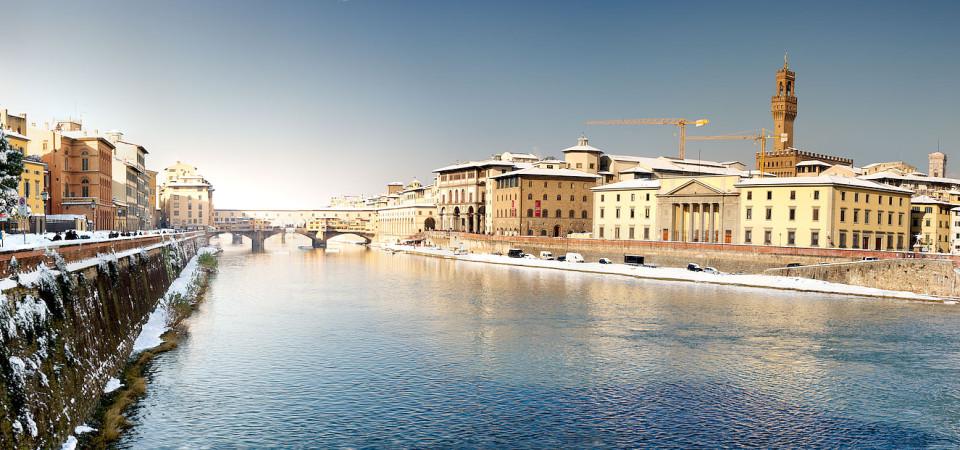 Neve sul Ponte Vecchio